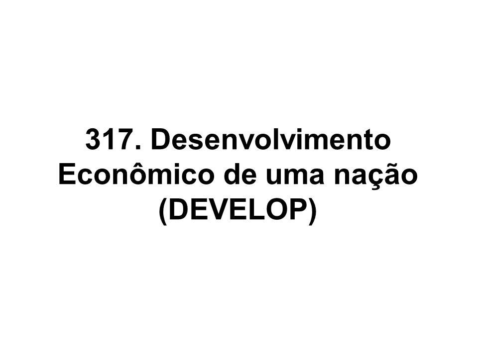 317. Desenvolvimento Econômico de uma nação (DEVELOP)