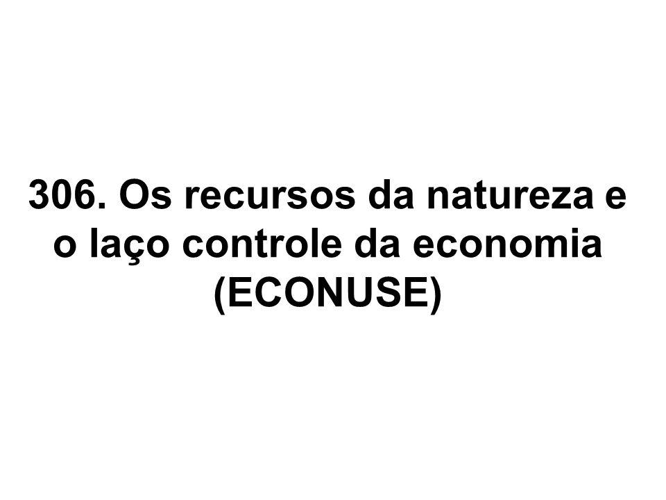 306. Os recursos da natureza e o laço controle da economia (ECONUSE)