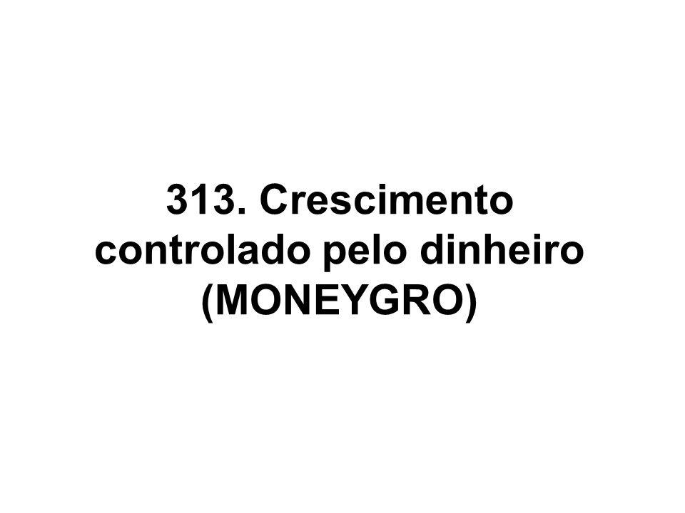 313. Crescimento controlado pelo dinheiro (MONEYGRO)