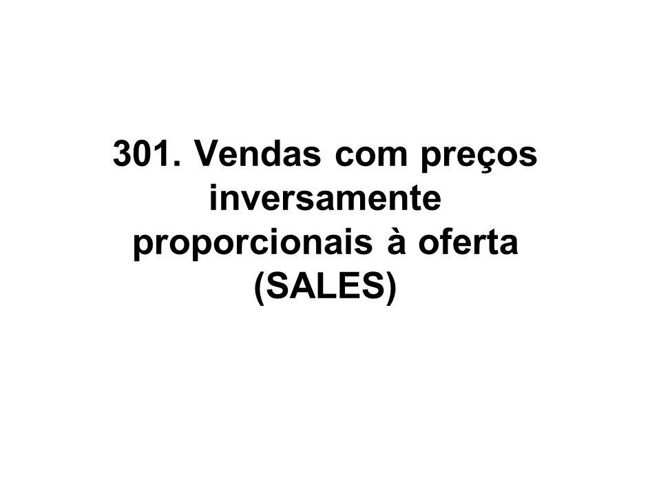 301. Vendas com preços inversamente proporcionais à oferta (SALES)