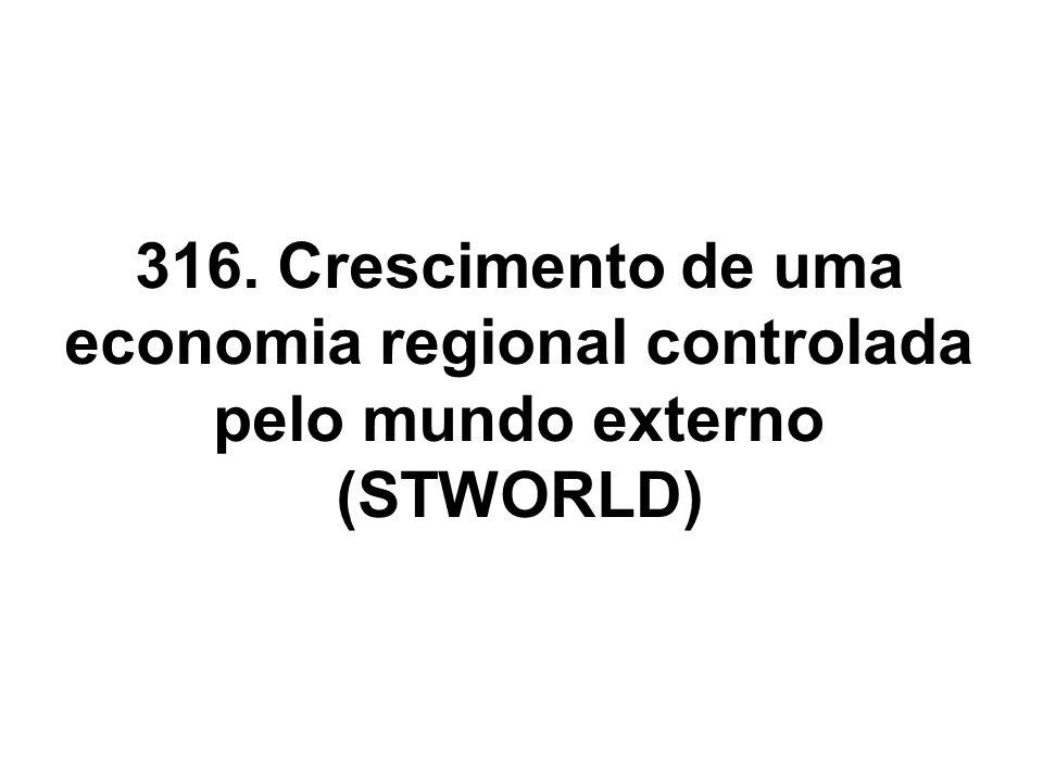 316. Crescimento de uma economia regional controlada pelo mundo externo (STWORLD)