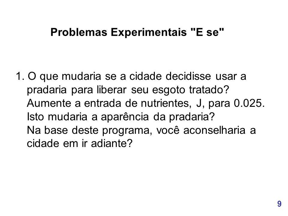 9 Problemas Experimentais E se 1.
