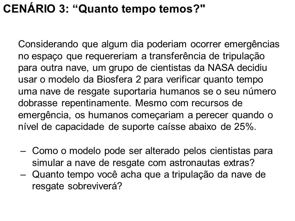 –Como o modelo pode ser alterado pelos cientistas para simular a nave de resgate com astronautas extras.