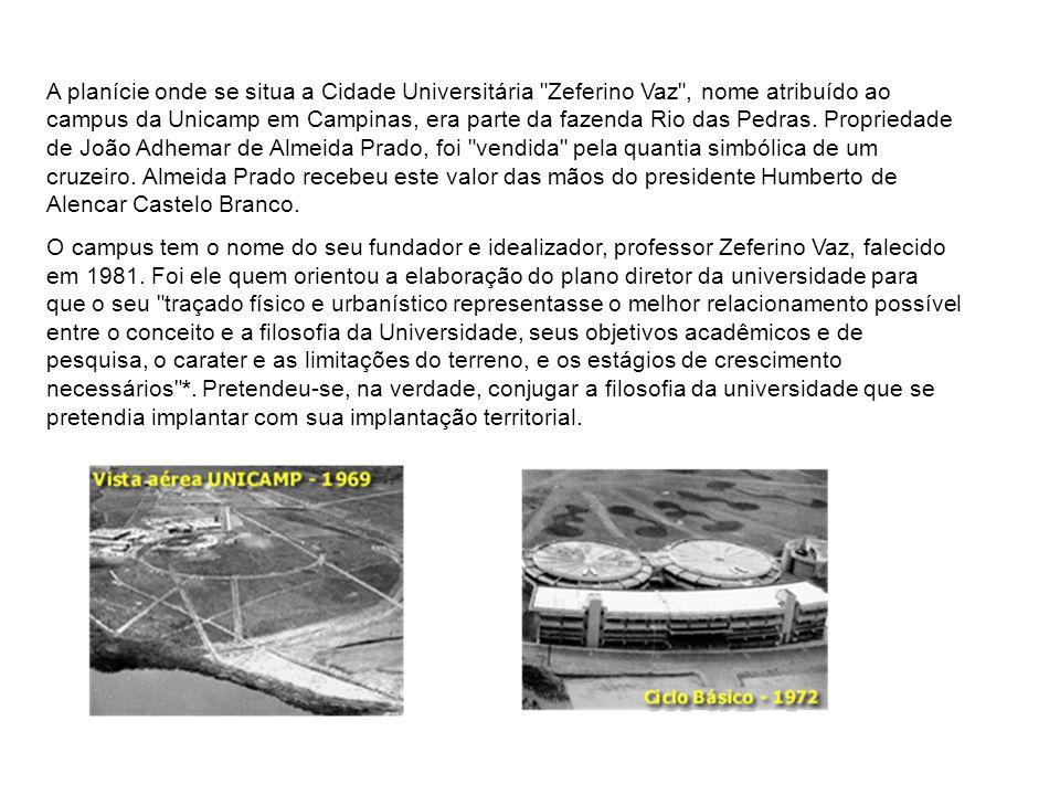 A planície onde se situa a Cidade Universitária Zeferino Vaz , nome atribuído ao campus da Unicamp em Campinas, era parte da fazenda Rio das Pedras.
