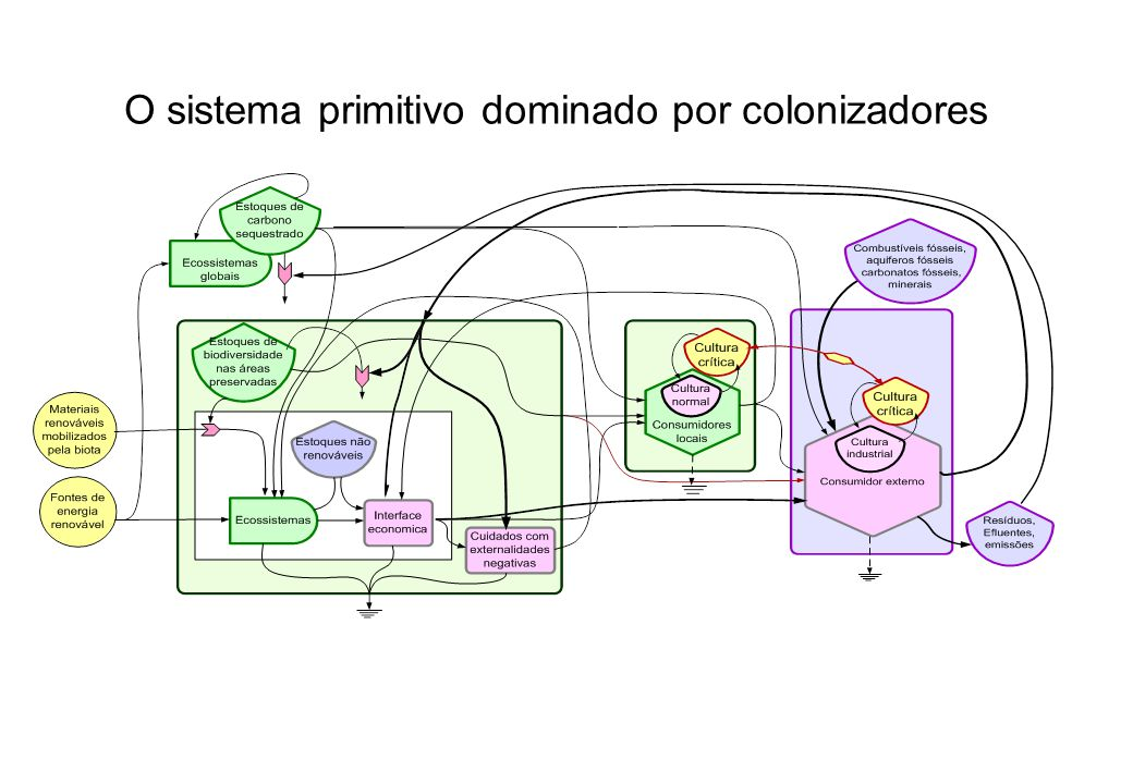 O sistema primitivo dominado por colonizadores