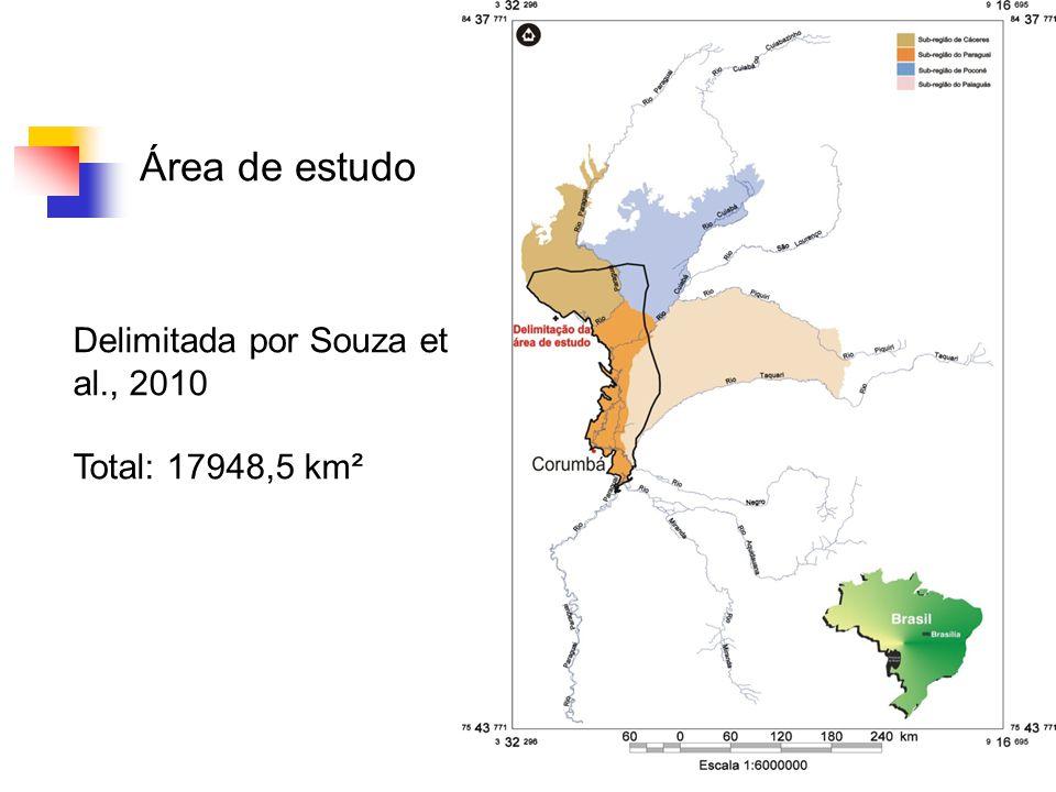 4 Área de estudo Delimitada por Souza et al., 2010 Total: 17948,5 km²