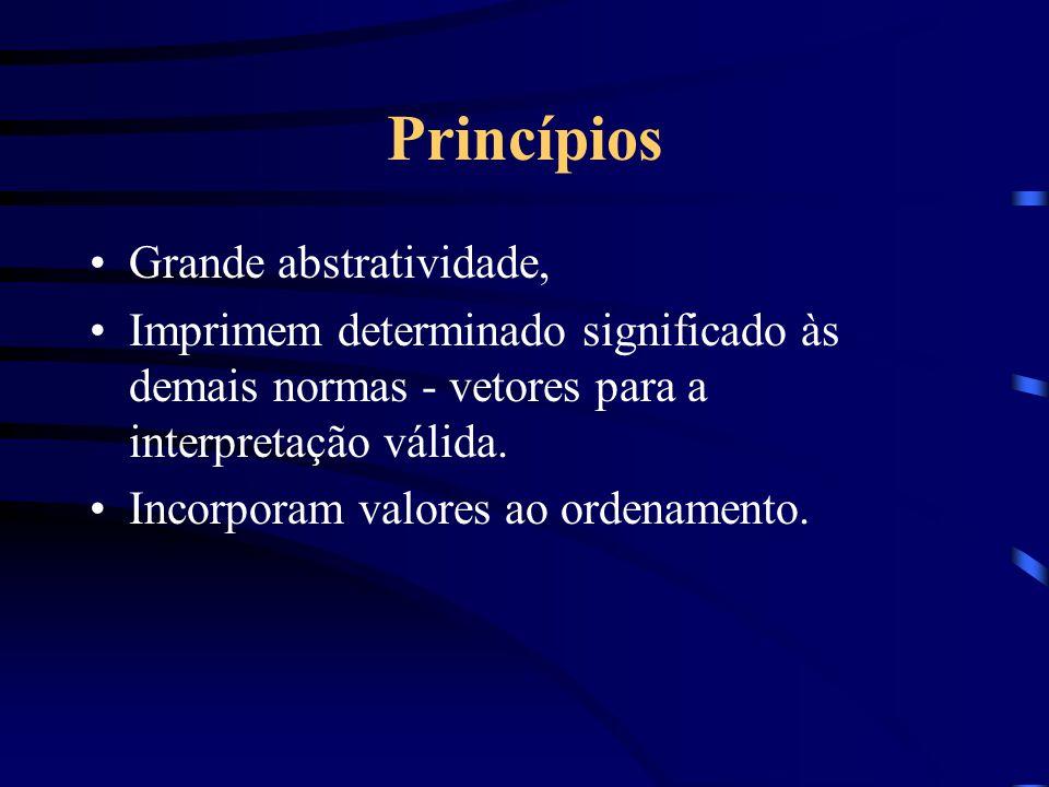 Norma jurídica: regras e princípios Até bem pouco tempo a doutrina dominante considerava que princípios não eram normas. Só recentemente a doutrina as