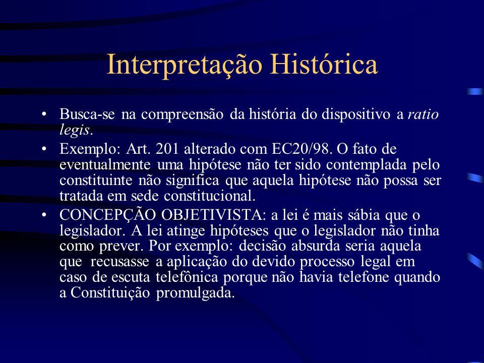 Interpretação Literal É o ponto de partida para qualquer interpretação. Trata-se de usar diretamente o próprio texto para exprimir a norma. Não é um e