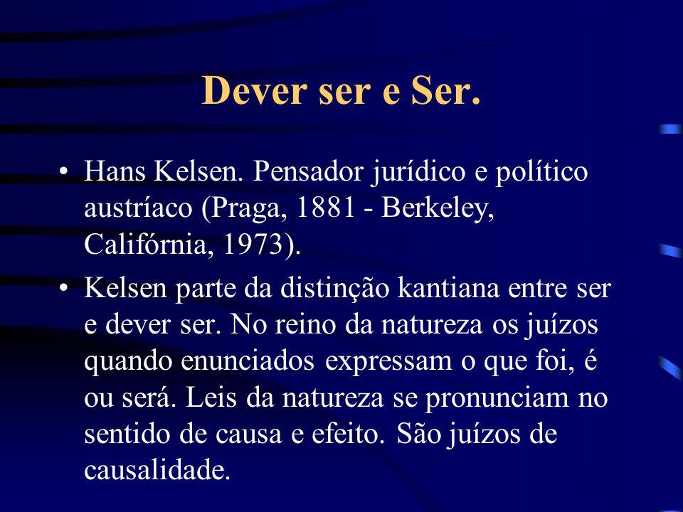 Dever ser e Ser.Hans Kelsen.