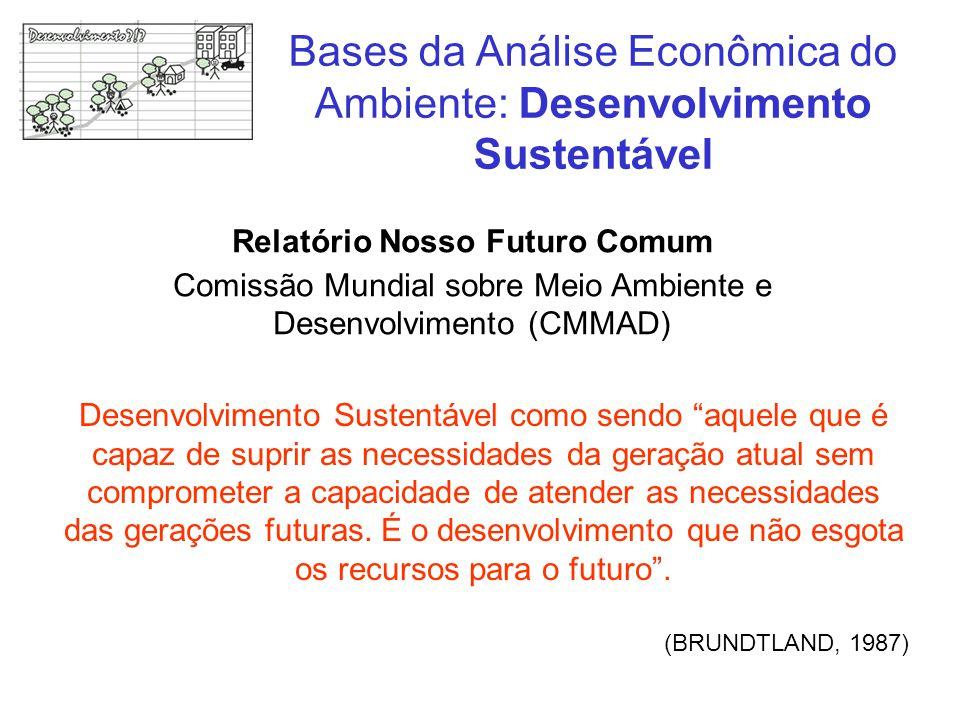 """Desenvolvimento Sustentável como sendo """"aquele que é capaz de suprir as necessidades da geração atual sem comprometer a capacidade de atender as neces"""