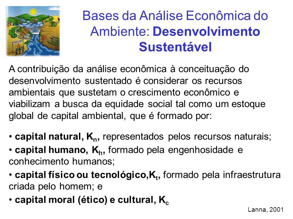A contribuição da análise econômica à conceituação do desenvolvimento sustentado é considerar os recursos ambientais que sustetam o crescimento econôm