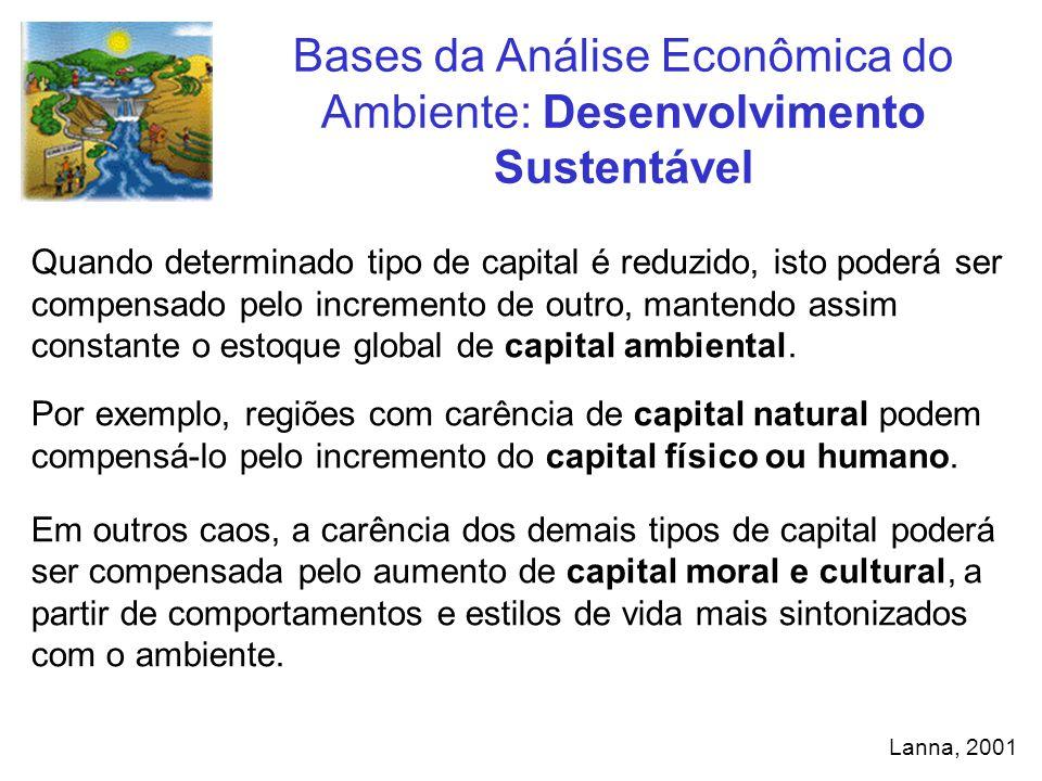 Quando determinado tipo de capital é reduzido, isto poderá ser compensado pelo incremento de outro, mantendo assim constante o estoque global de capit