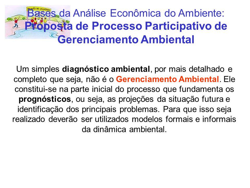 Um simples diagnóstico ambiental, por mais detalhado e completo que seja, não é o Gerenciamento Ambiental. Ele constitui-se na parte inicial do proces
