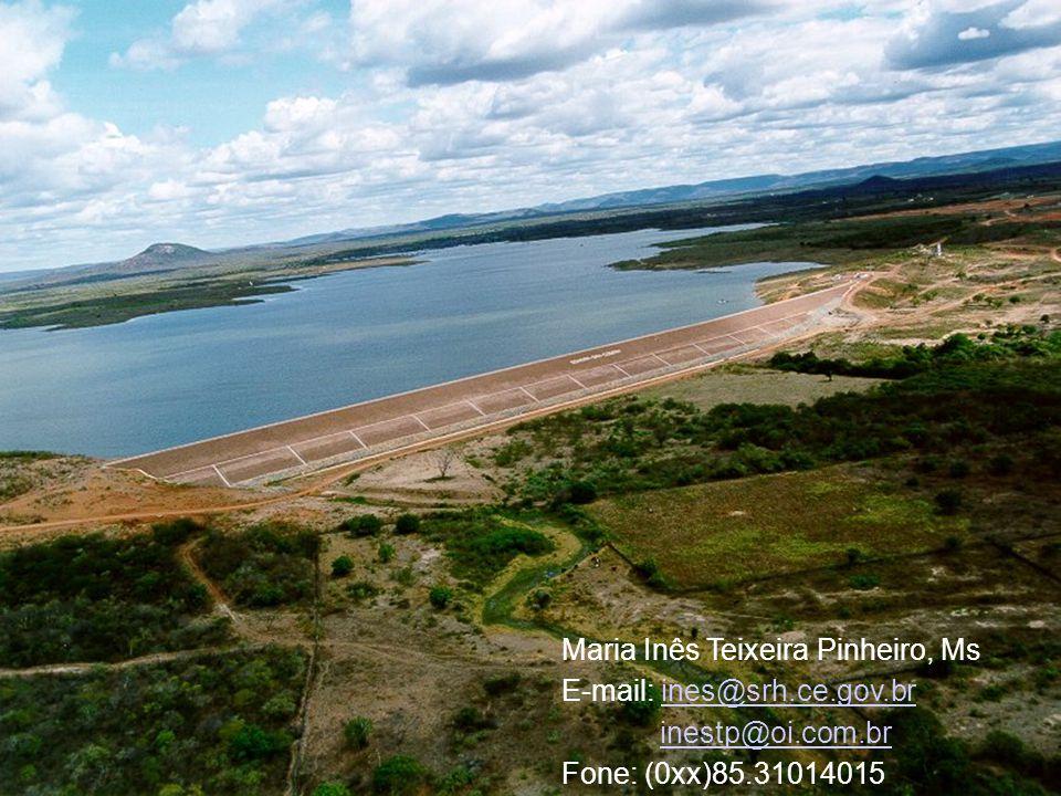 Maria Inês Teixeira Pinheiro, Ms E-mail: ines@srh.ce.gov.brines@srh.ce.gov.br inestp@oi.com.br Fone: (0xx)85.31014015