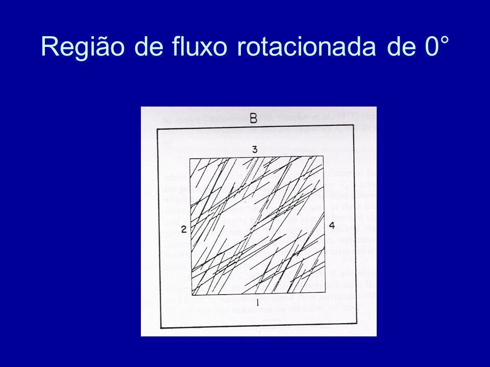 Região de fluxo rotacionada de 0°