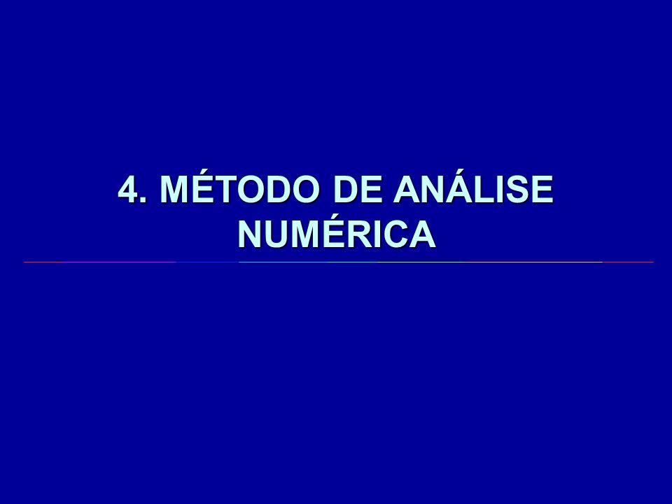 4. MÉTODO DE ANÁLISE NUMÉRICA