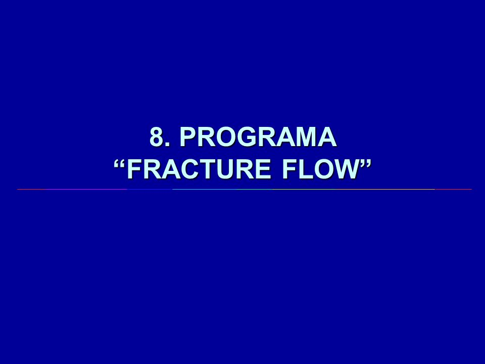"8. PROGRAMA ""FRACTURE FLOW"""