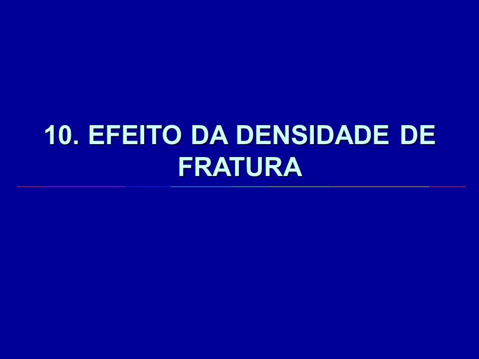 10. EFEITO DA DENSIDADE DE FRATURA