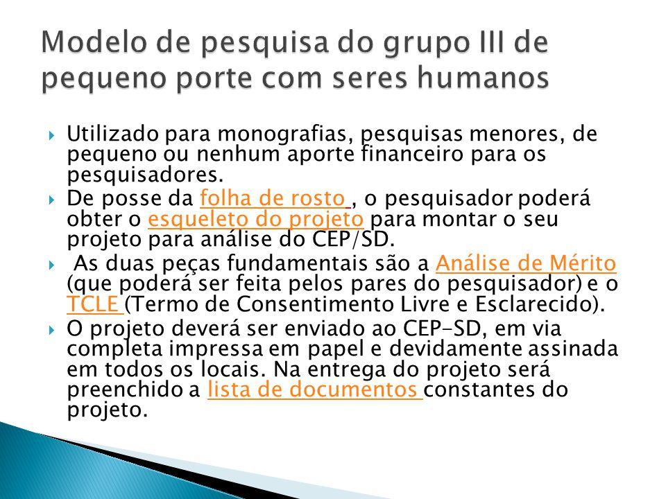 Comitê de Ética  Comitê de Ética em Pesquisa do Setor de Ciências da Saúde (CEP-SD).Disponível em http://www.cometica.ufpr.br/.