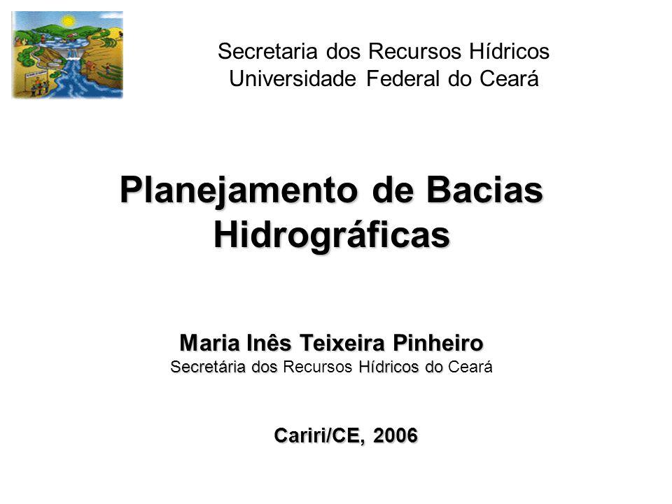 Classes de Vazões consideradas no PNRH Vazão de Retira - corresponde à vazão captada pelo usuário.