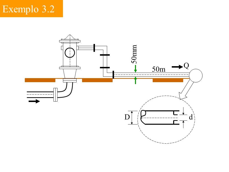 Exemplo 3.2 50mm 50m Q dD