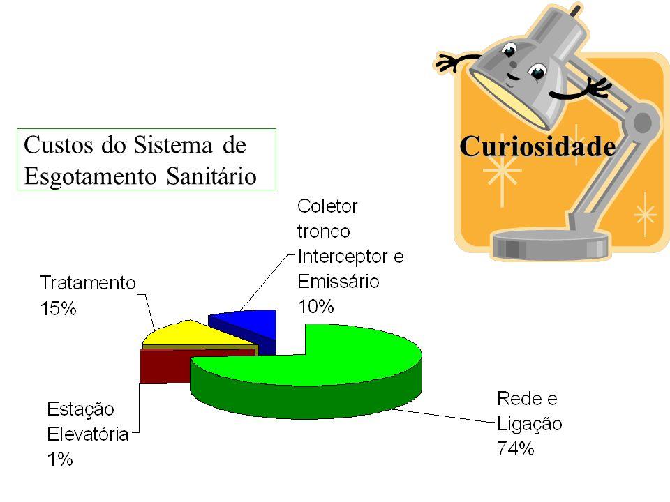 Custos do Sistema de Esgotamento Sanitário Curiosidade