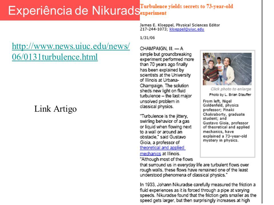 http://www.news.uiuc.edu/news/ 06/0131turbulence.html Link Artigo