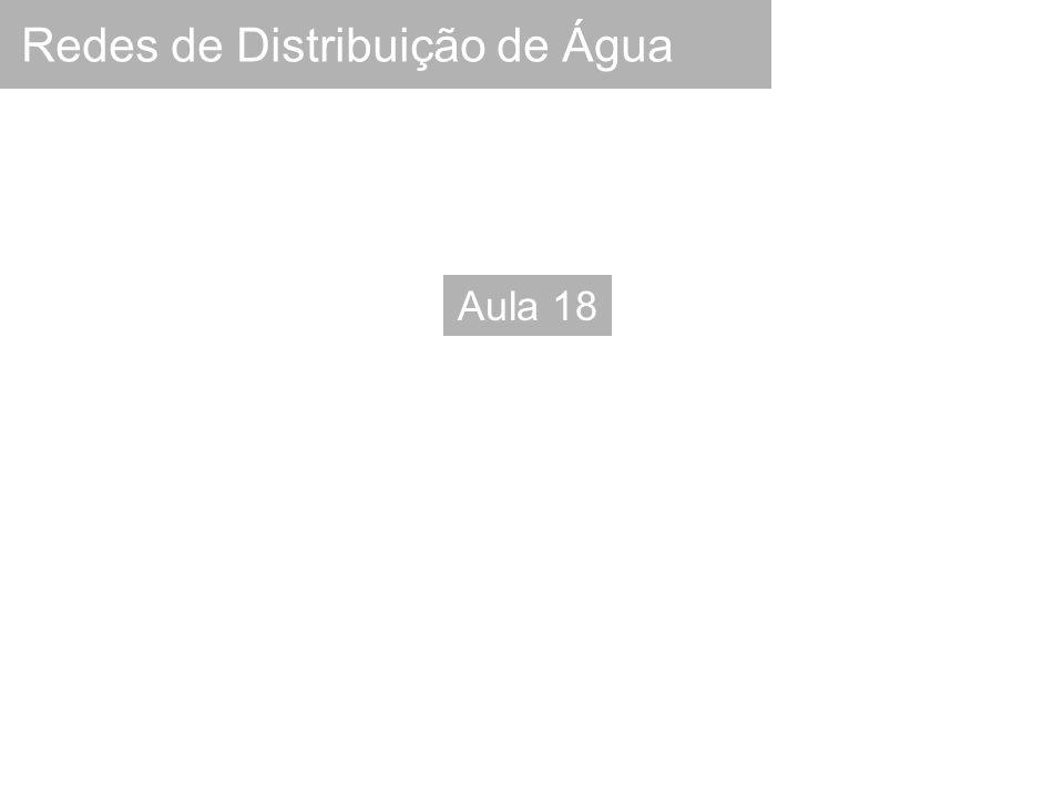 Redes de Distribuição de Água Aula 18