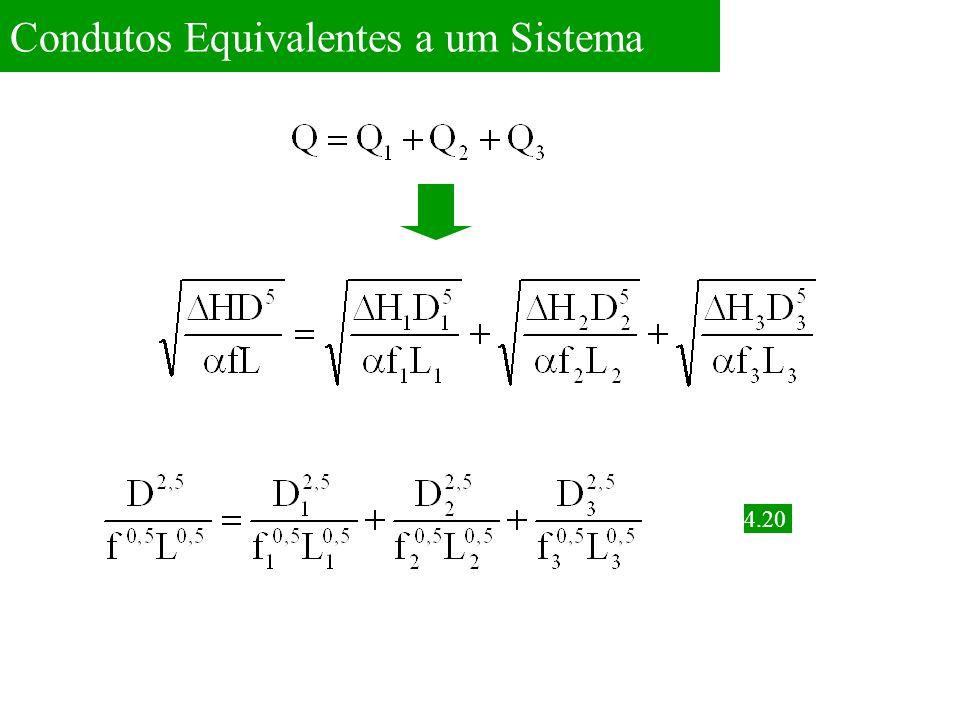 Condutos Equivalentes a um Sistema 4.21 Usando Hanzen-Williams