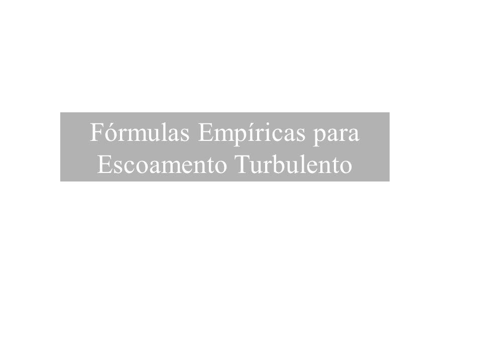 Fórmulas Empíricas para Escoamento Turbulento