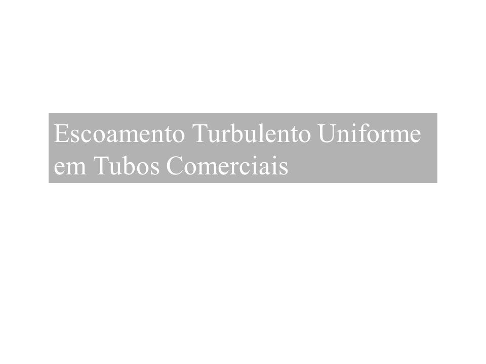 Escoamento Turbulento Uniforme em Tubos Comerciais