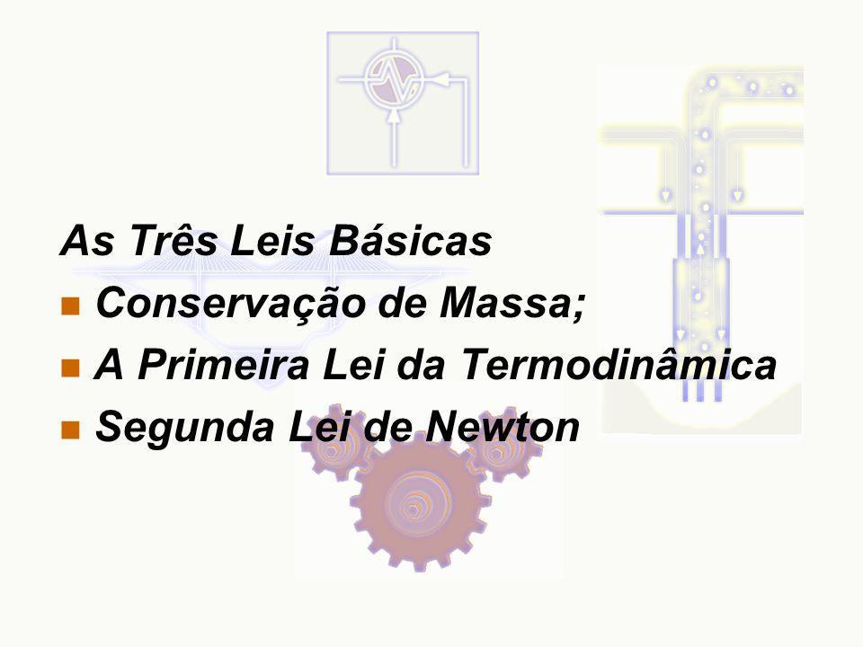 As Três Leis Básicas n Conservação de Massa; n A Primeira Lei da Termodinâmica n Segunda Lei de Newton