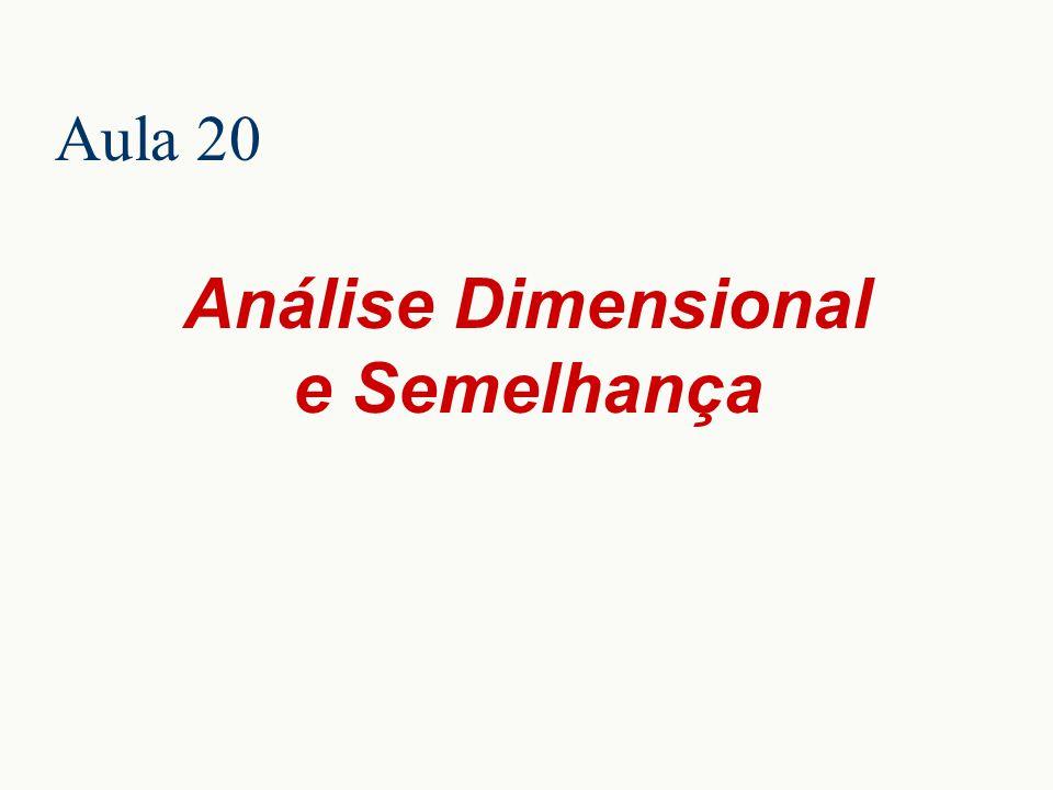 Análise Dimensional e Semelhança Aula 20