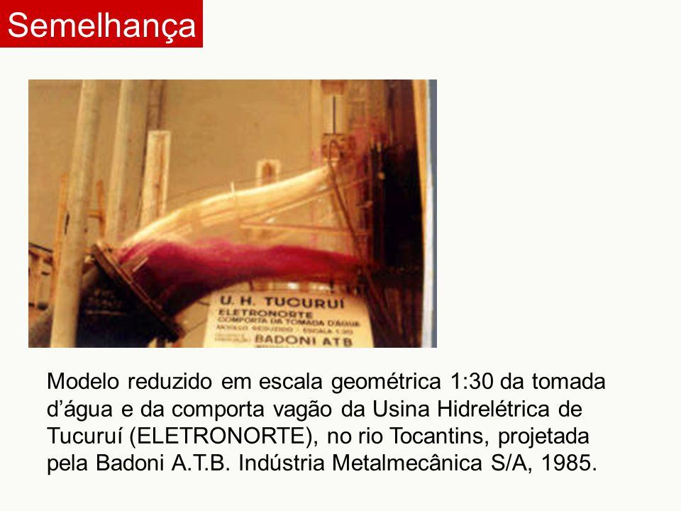 Modelo reduzido em escala geométrica da tomada d'água e da comporta vagão da Usina Hidrelétrica de Paulo Afonso IV (CHESF), no rio São Francisco, projetadas pela Ishikawajima do Brasil Estaleiros S/A, 1978.