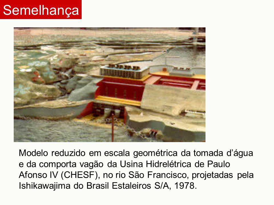 Modelo reduzido em escala geométrica da tomada d'água e da comporta vagão da Usina Hidrelétrica de Paulo Afonso IV (CHESF), no rio São Francisco, proj