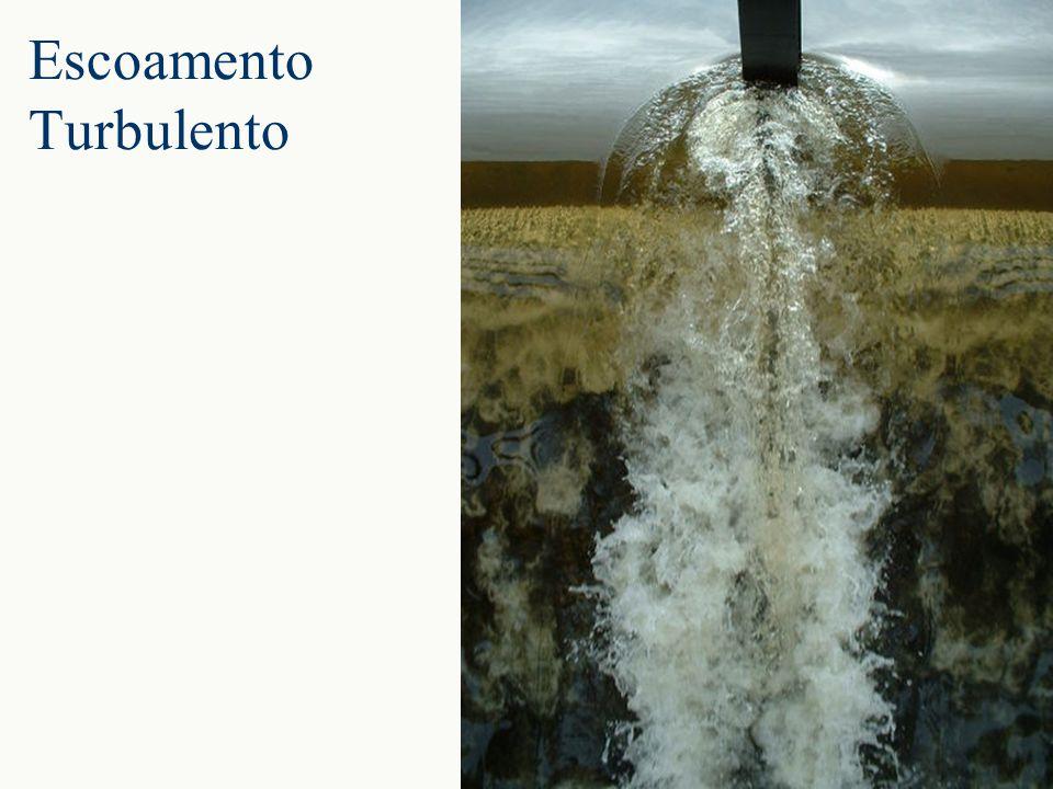 Escoamento laminar no fundo e turbulento na superfície