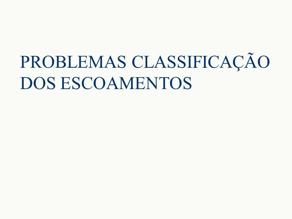 PROBLEMAS CLASSIFICAÇÃO DOS ESCOAMENTOS