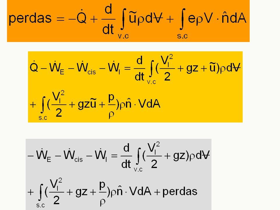 Perdas devem-se a dois efeitos principais: n Viscosidade n Mudança na geometria
