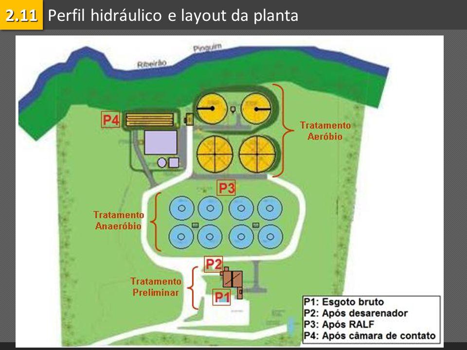Perfil hidráulico e layout da planta2.112.11
