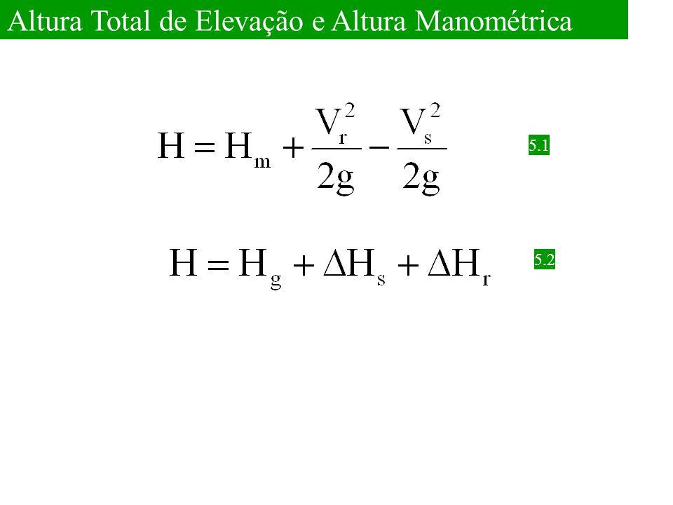 Altura Total de Elevação e Altura Manométrica 5.1 5.2