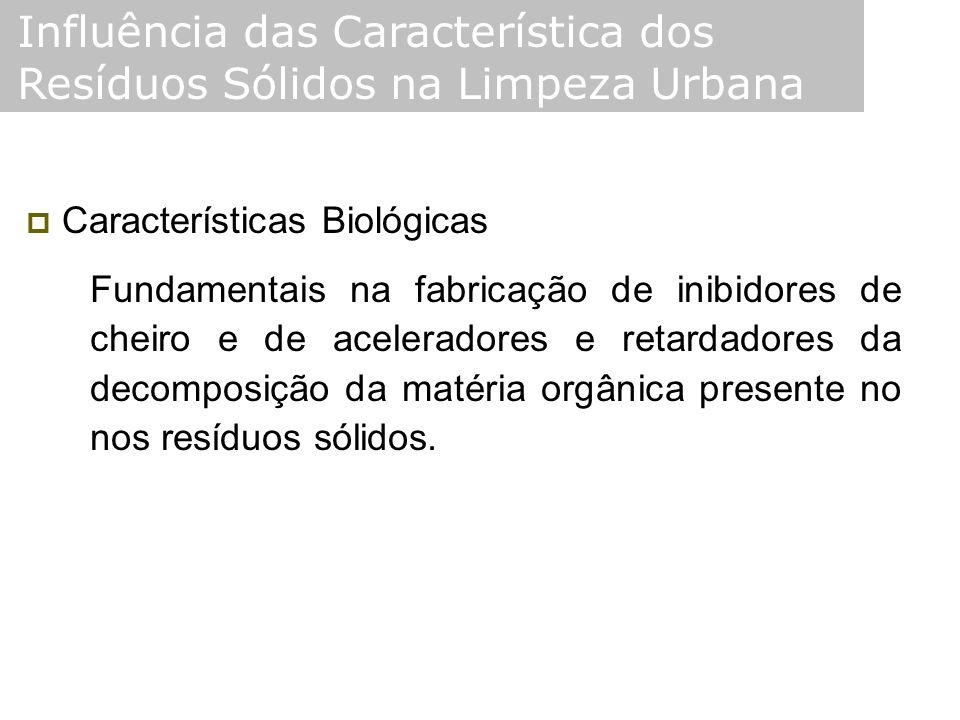  Características Biológicas Fundamentais na fabricação de inibidores de cheiro e de aceleradores e retardadores da decomposição da matéria orgânica p