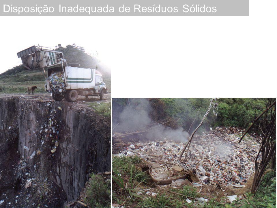  Poluição das águas  Poluição do solo  Poluição do ar (Gases, odor, material particulado)  Problemas econômicos  Problemas sanitários Risco Ambiental e Sanitário