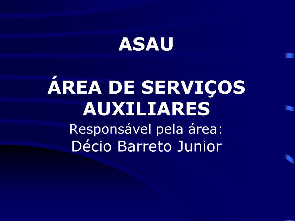 ASAU ÁREA DE SERVIÇOS AUXILIARES Responsável pela área: Décio Barreto Junior