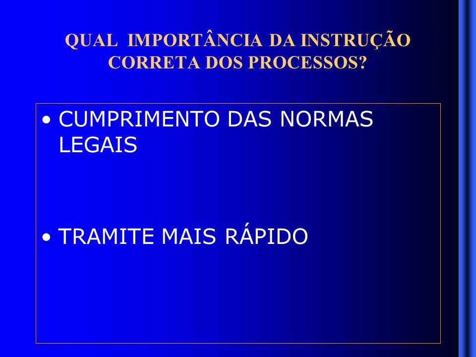 QUAL IMPORTÂNCIA DA INSTRUÇÃO CORRETA DOS PROCESSOS.