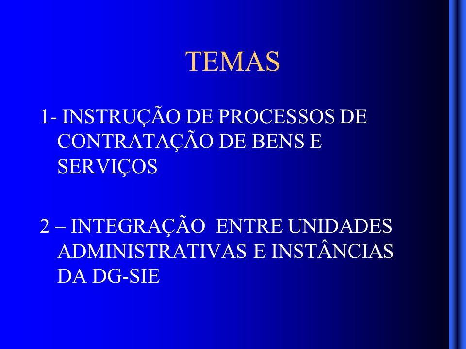 RESULTADOS ESPERADOS Interface harmônica entre instâncias da administração central e unidades Correta instrução dos procedimentos para contratação de bens e serviços Trâmite sem retrocessos nos processos que transitam pelas áreas administrativas.