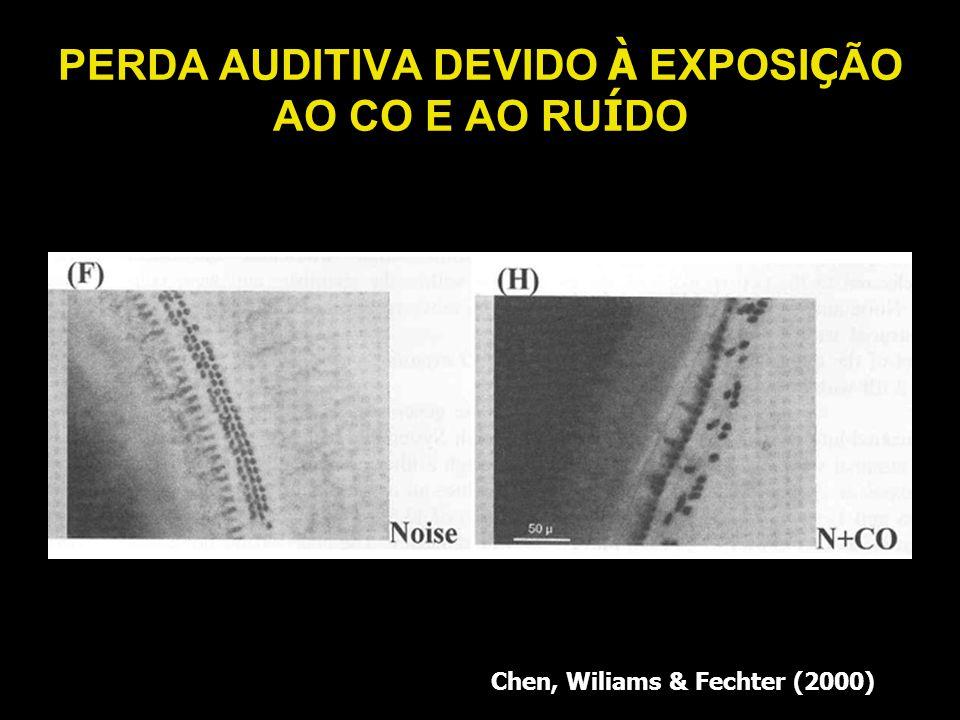 PERDA AUDITIVA DEVIDO À EXPOSI Ç ÃO AO CO E AO RU Í DO Chen, Wiliams & Fechter (2000)