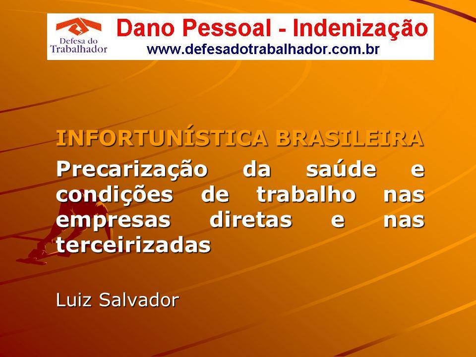 Brasil, campeão mundial de acidentes As estatísticas oficiais apontam uma média de 500 mil acidentes por ano: - três mortes a cada duas horas de trabalho; - três acidentes a cada minuto de trabalho.