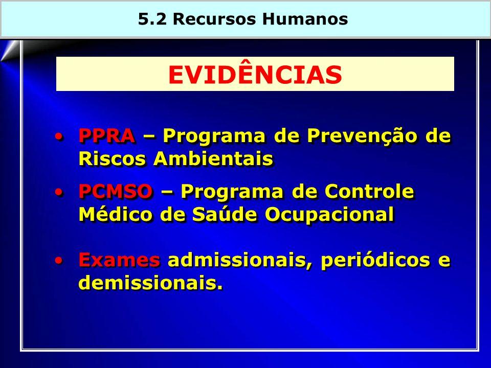 PPRA – Programa de Prevenção de Riscos AmbientaisPPRA – Programa de Prevenção de Riscos Ambientais PCMSO – Programa de Controle Médico de Saúde OcupacionalPCMSO – Programa de Controle Médico de Saúde Ocupacional Exames admissionais, periódicos e demissionais.
