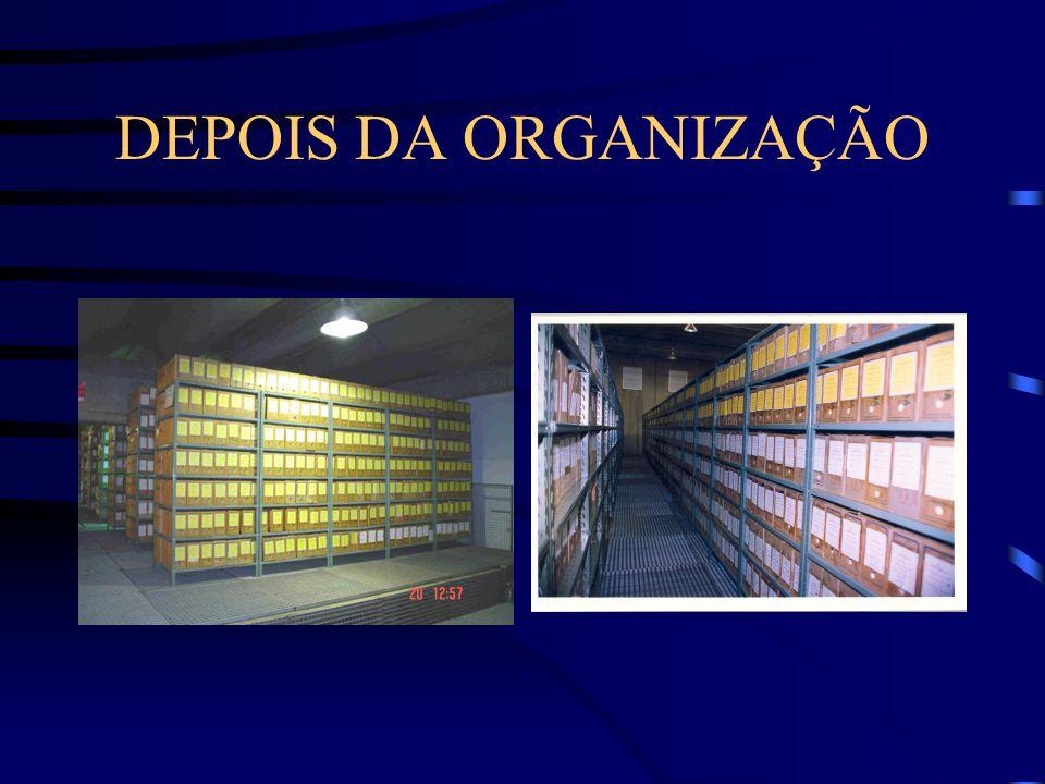 DEPOIS DA ORGANIZAÇÃO