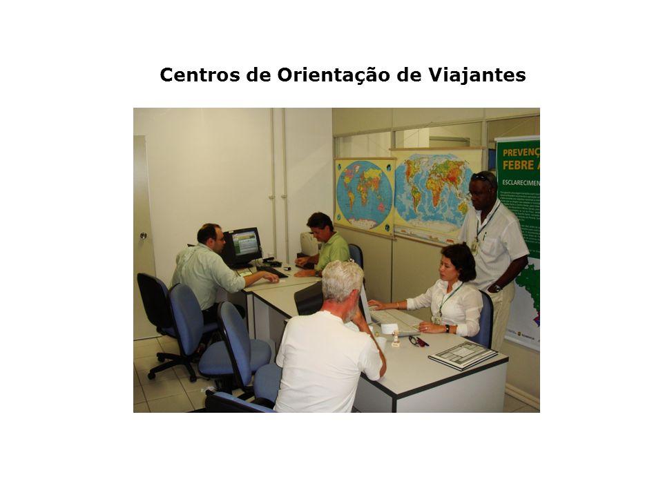 Centros de Orientação de Viajantes Vigilância em Pontos de Entrada